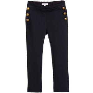 Chloe Girls Fancy Navy Jersey Pants (Mini-Me) Girls Pants Chloé [Petit_New_York]