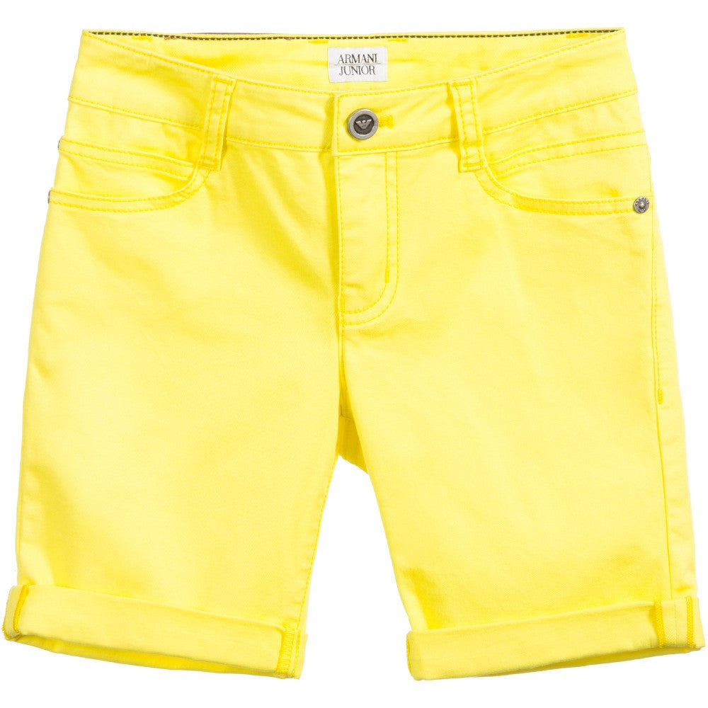 Armani Junior Boys Yellow Shorts Boys Shorts Armani Junior [Petit_New_York]