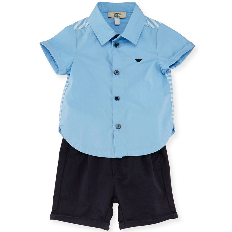 Armani Baby Boys Dressy Blue Set Baby Sets & Suits Armani Junior [Petit_New_York]