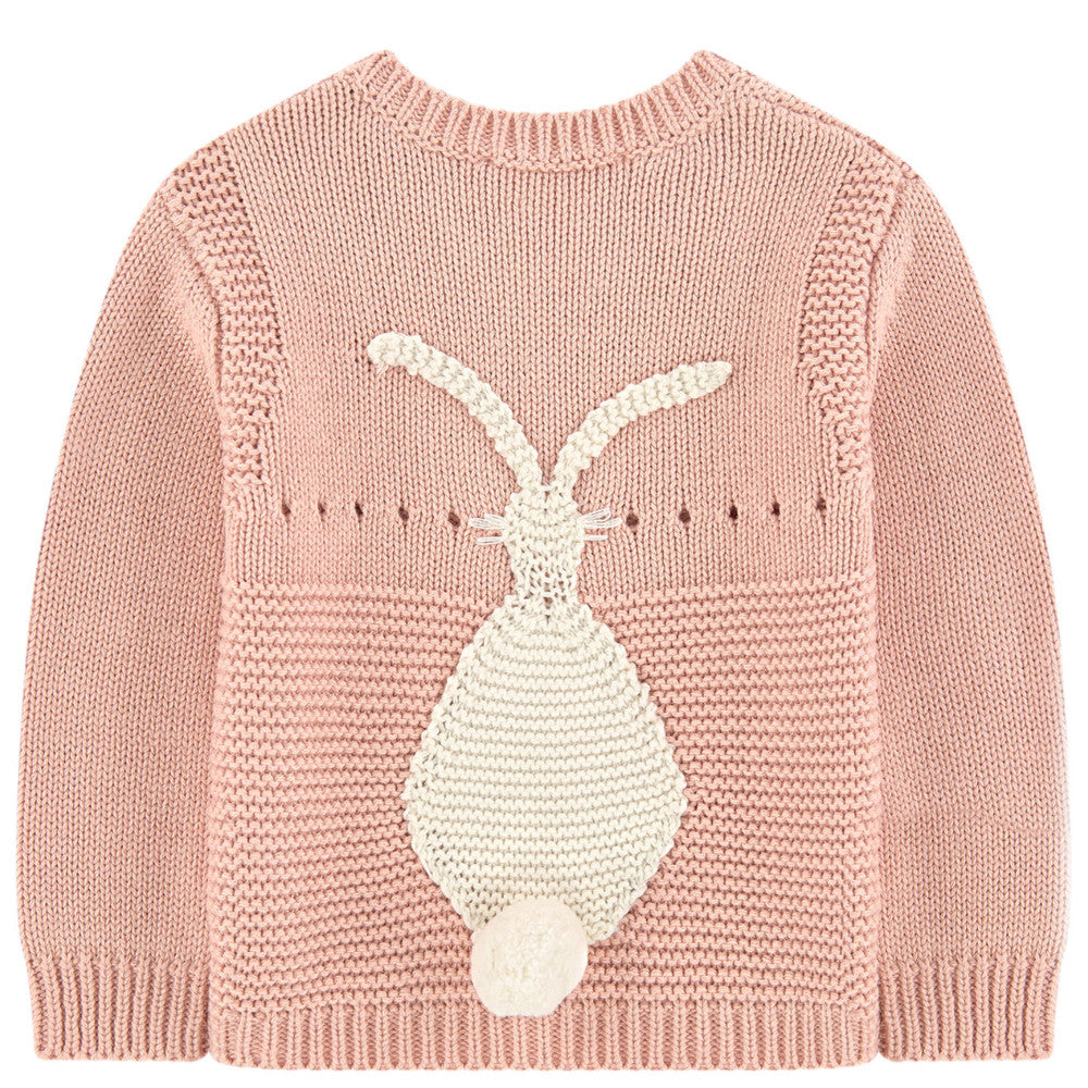 Stella McCartney Baby Girls Cashmere/Cotton Bunny Sweater Baby Tops Stella McCartney Kids [Petit_New_York]
