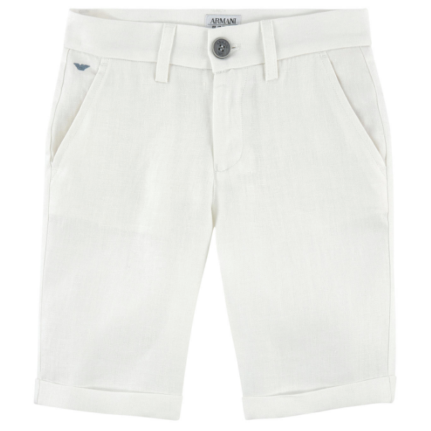 special discount huge inventory enjoy big discount Boys White Linen Bermuda Shorts