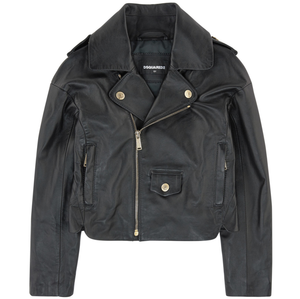 Dsquared2 Girls Leather Biker Jacket Girls Jackets & Coats Dsquared2 [Petit_New_York]