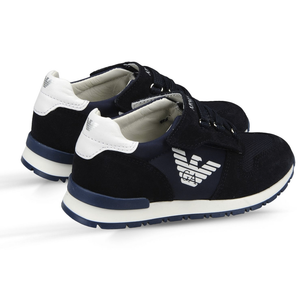 Armani Boys Navy Blue Sneakers Boys Shoes Armani Junior [Petit_New_York]