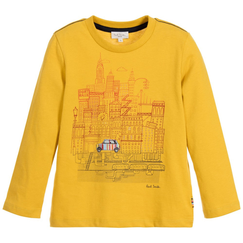 Paul Smith Boys Yellow City Print T-shirt Boys Shirts Paul Smith Junior [Petit_New_York]