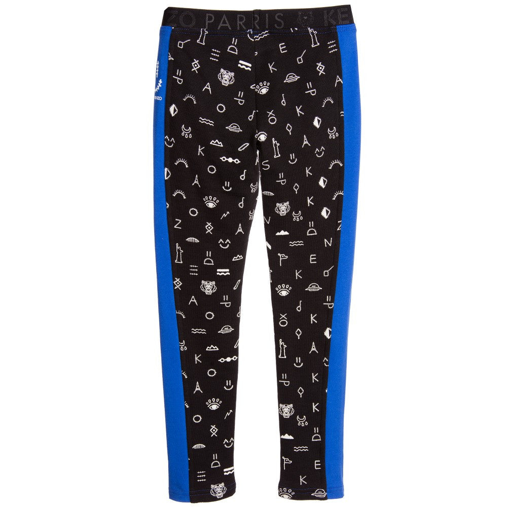 Kenzo Girls Black & Blue Pants Girls Pants Kenzo Paris [Petit_New_York]