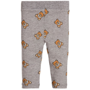 Moschino Baby Girl Grey Teddybear Leggings Baby Bottoms Moschino [Petit_New_York]