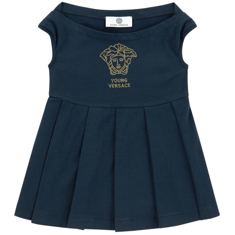 Versace Girls Navy Top Girls Tops Young Versace [Petit_New_York]