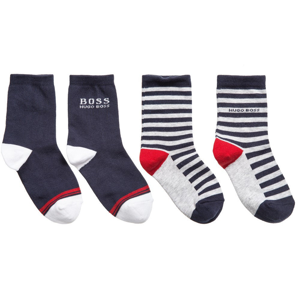 Hugo Boss Boys Socks Two-Pack Boys Underwear & Socks Boss Hugo Boss [Petit_New_York]