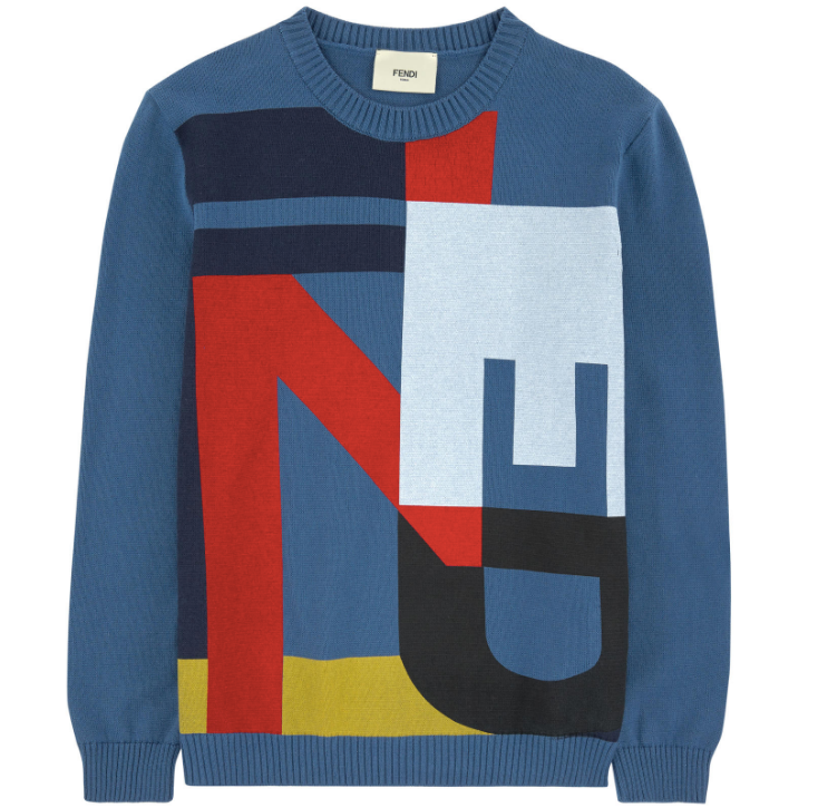 Fendi Boys Graphic Logo Sweater Boys Sweaters & Sweatshirts Fendi [Petit_New_York]