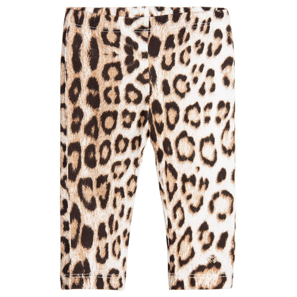 Cavalli Girls Leopard Leggings Girls Leggings Roberto Cavalli Junior [Petit_New_York]