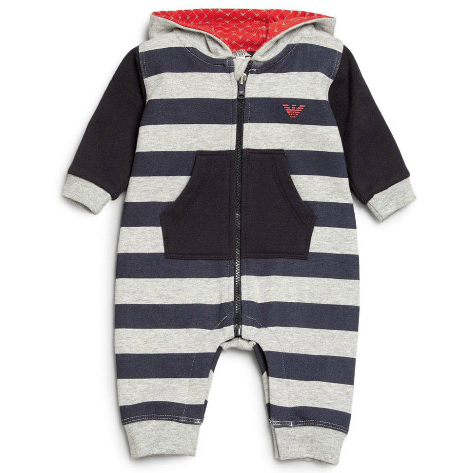 Armani Baby Boys Hooded Romper Baby Rompers & Onesies Armani Junior [Petit_New_York]