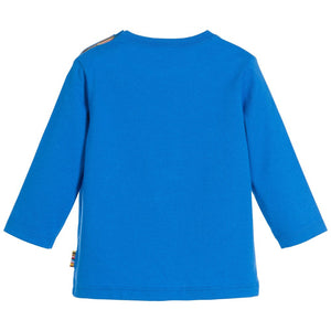 Paul Smith Baby Boys Blue Zebra Top Baby Tops Paul Smith Junior [Petit_New_York]