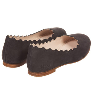 Chloe Girls Suede Slip-On Shoes (Mini-Me) Girls Shoes Chloé [Petit_New_York]