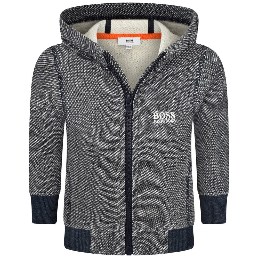Hugo Boss Baby Boys Grey/Navy Jacket Baby Tops Boss Hugo Boss [Petit_New_York]