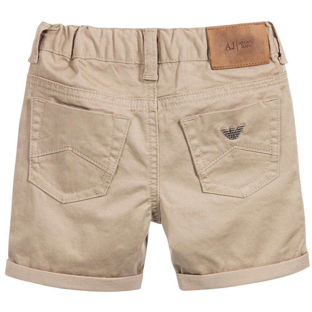 Armani Boys Beige Shorts Boys Pants Armani Junior [Petit_New_York]