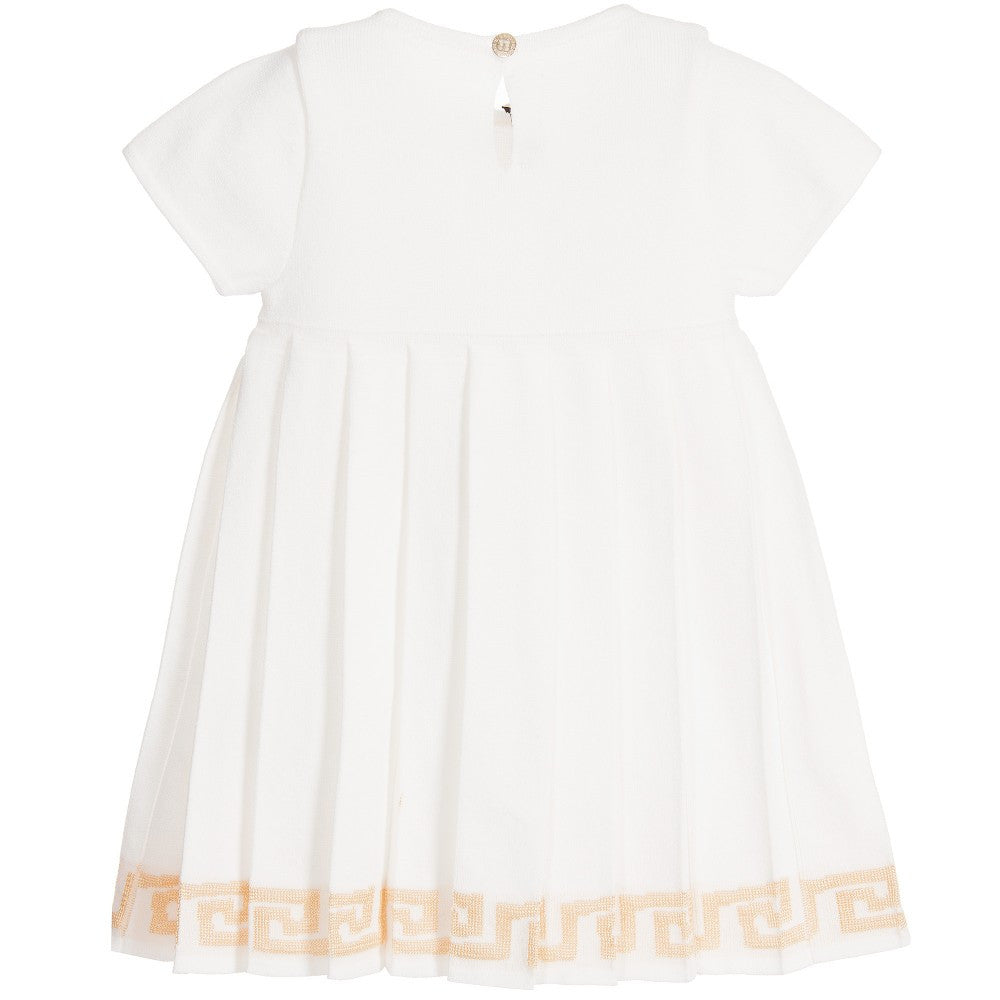 96dccad2b Versace Baby Girls Knitted Ivory   Gold Dress – Petit New York