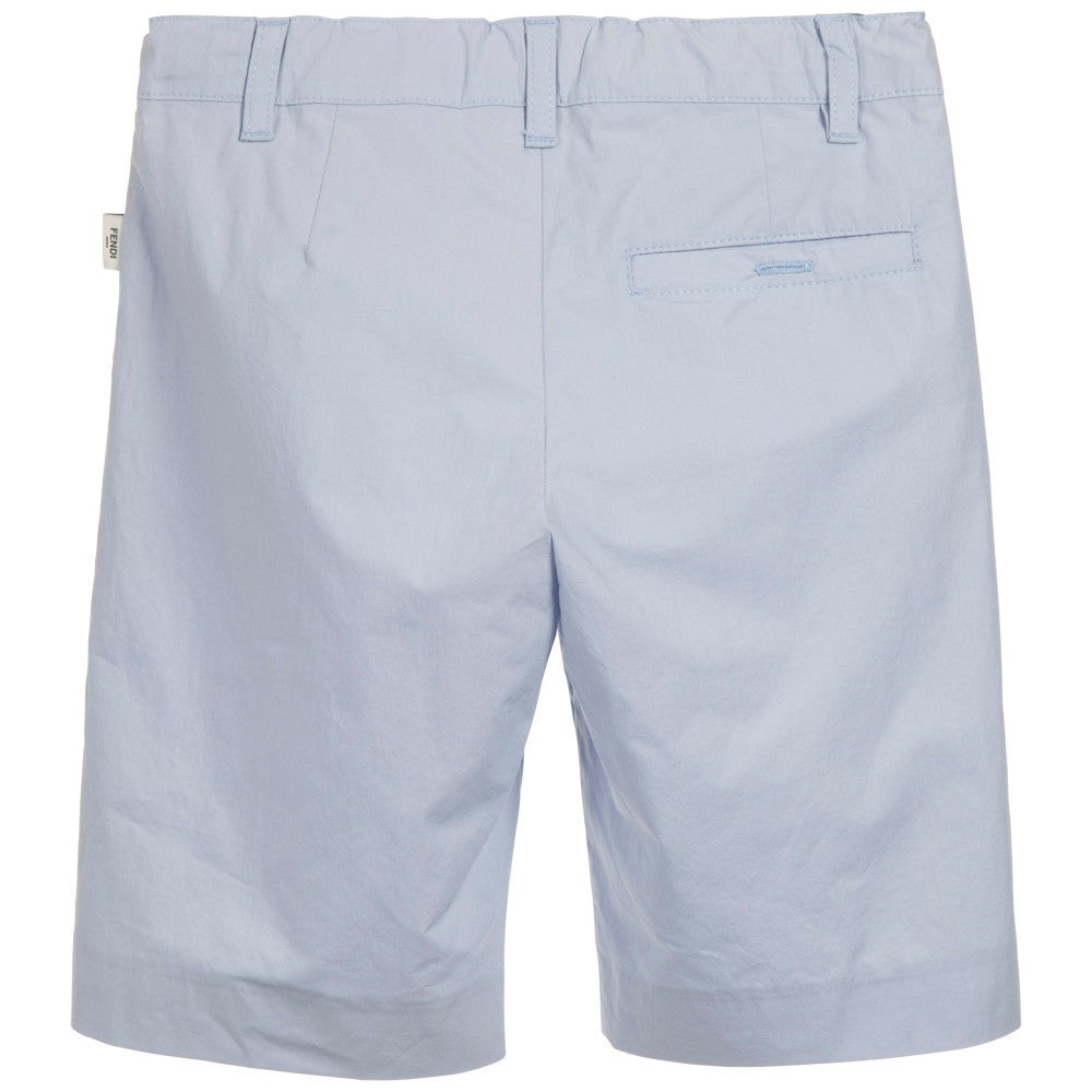 Fendi Boys Pale Blue Shorts Boys Shorts Fendi [Petit_New_York]