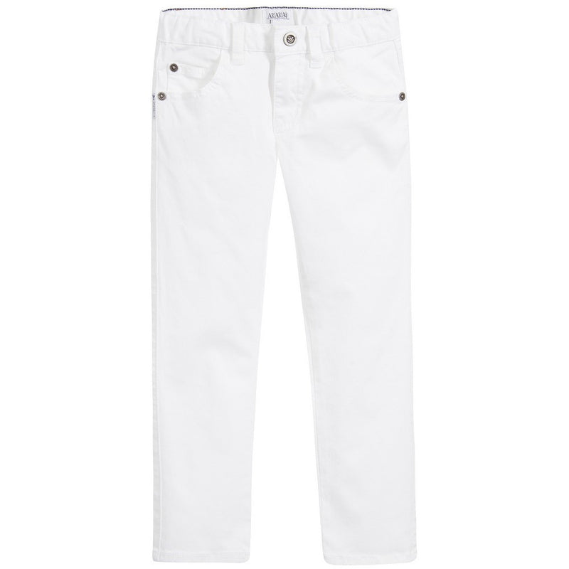 Armani Junior Boys White Jeans Boys Pants Armani Junior [Petit_New_York]