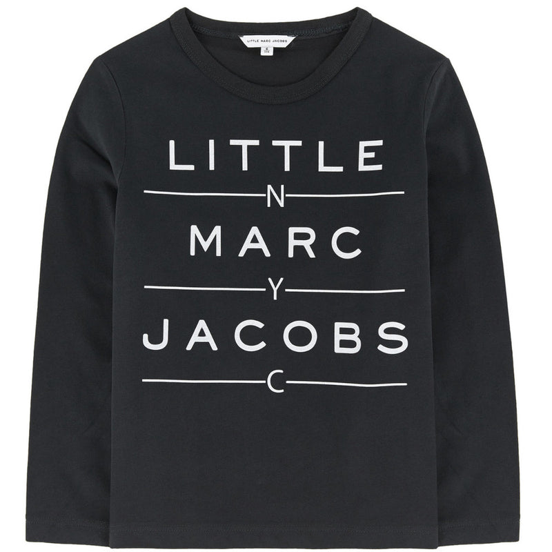 Little Marc Jacobs Boys Black Logo T-shirt (Mini-Me) Boys T-shirts Little Marc Jacobs [Petit_New_York]