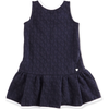Armani Girls Jacquard Navy Dress Girls Dresses Armani Junior [Petit_New_York]