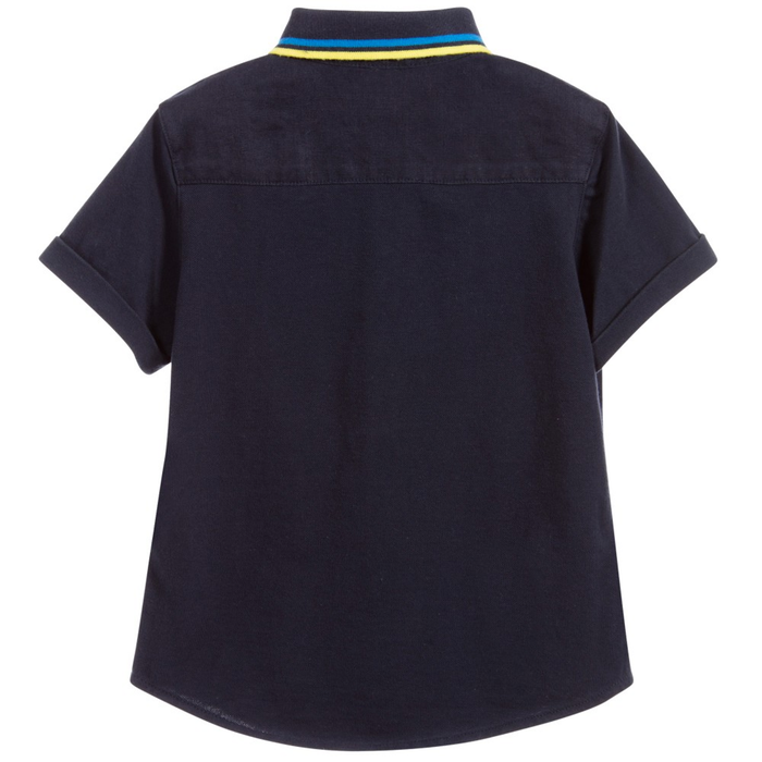 Armani Boys Linen Button-Down Boys Shirts Armani Junior [Petit_New_York]