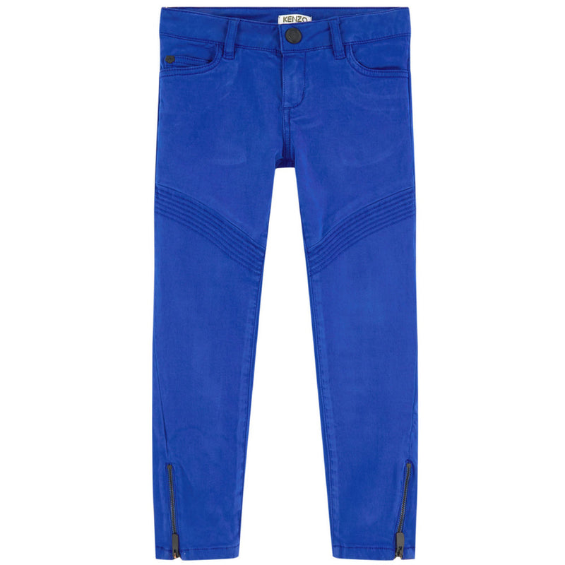 Kenzo Girls Slim Blue Pants Girls Pants Kenzo Paris [Petit_New_York]