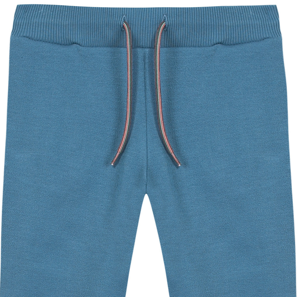 Paul Smith Boys Petrol Blue Sweatpants Boys Pants Paul Smith Junior [Petit_New_York]
