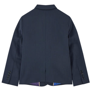 Paul Smith Boys Navy Blue Wool Suit Boys Suits & Blazers Paul Smith Junior [Petit_New_York]