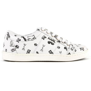 Karl Lagerfeld Girls Choupette Leather Sneakers Girls Shoes Karl Lagerfeld Kids [Petit_New_York]