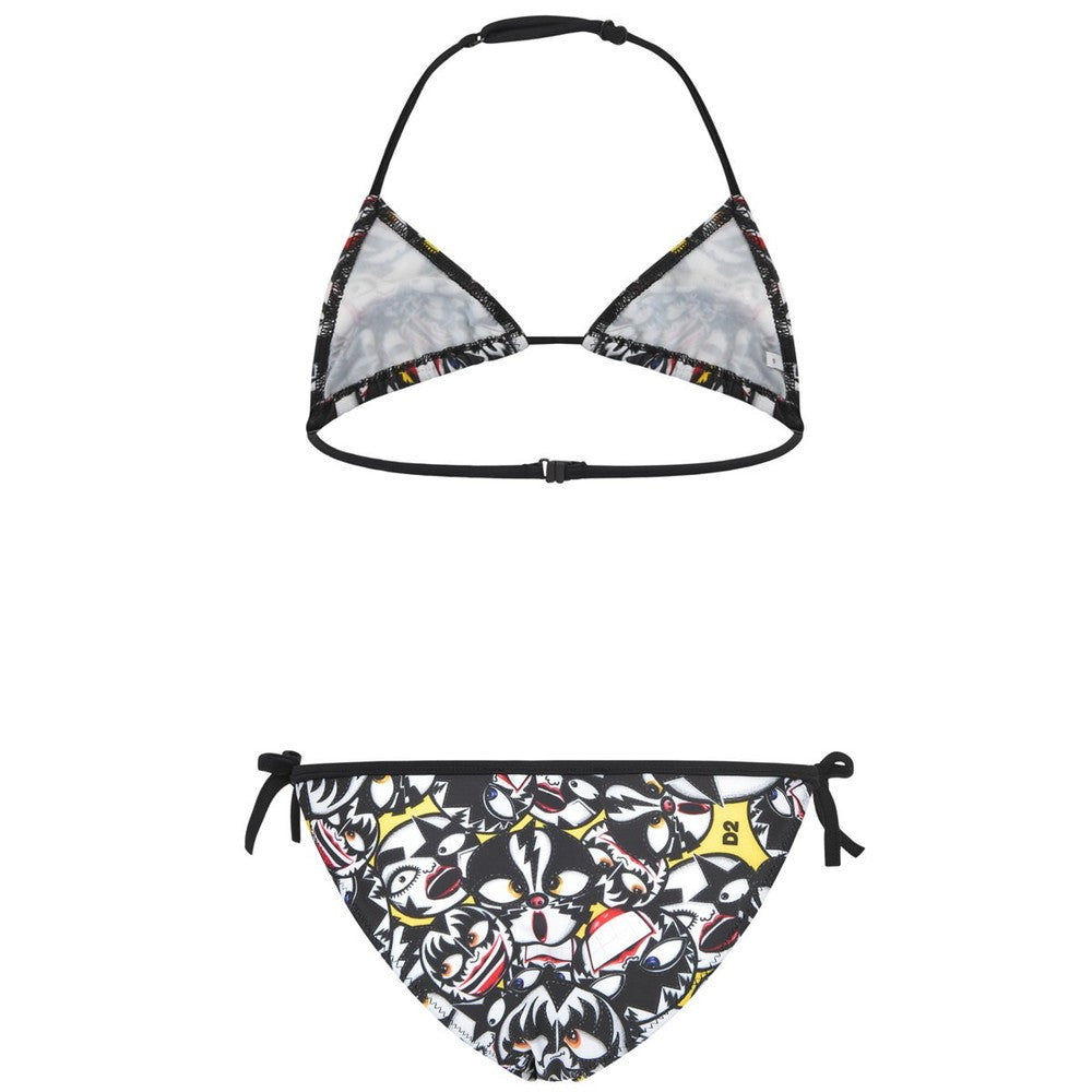Dsquared2 Girls Wrestling Masks Bikini Girls Swimwear Dsquared2 [Petit_New_York]
