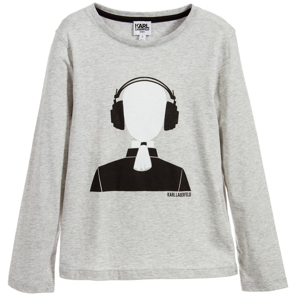 Karl Lagerfeld Boys 'Krazy Party' Grey T-shirt Boys T-shirts Karl Lagerfeld Kids [Petit_New_York]
