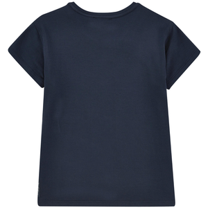 Armani Girls Navy Sailor T-shirt Girls Tops Armani Junior [Petit_New_York]