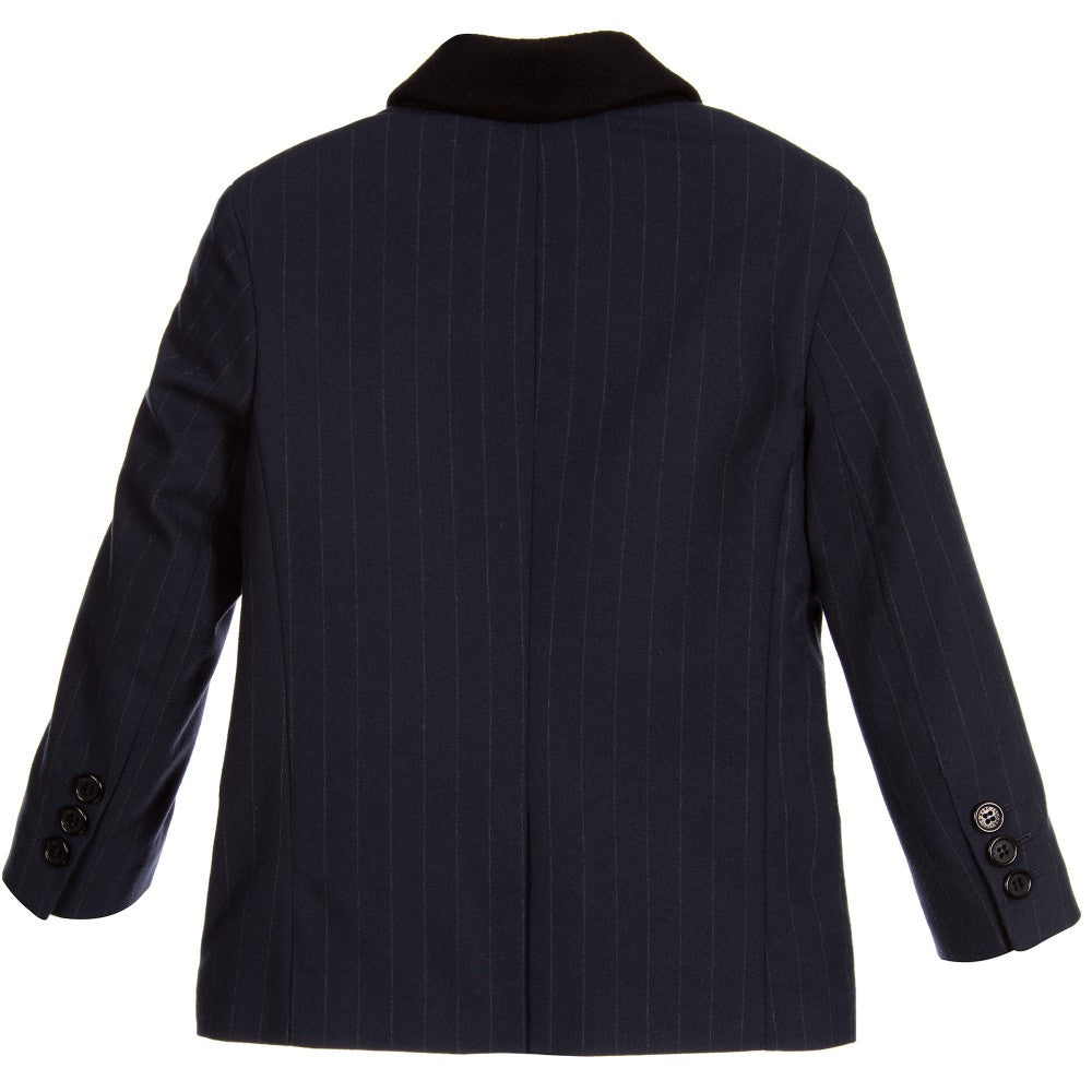 Little Marc Jacobs Navy Pinstriped Blazer Boys Suits & Blazers Little Marc Jacobs [Petit_New_York]