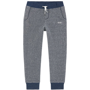 Hugo Boss Boys Navy/Grey Sweatpants Boys Pants Boss Hugo Boss [Petit_New_York]