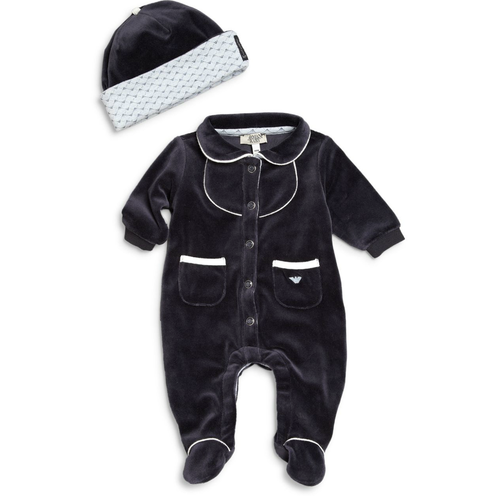 Armani Baby Onesie & Hat Gift Set Baby Rompers & Onesies Armani Junior [Petit_New_York]
