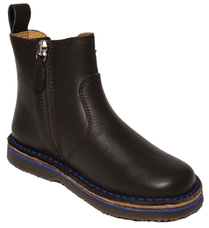 Armani Boys Brown Leather Boots Boys Shoes Armani Junior [Petit_New_York]