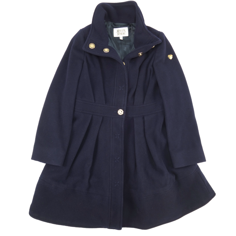 a5fc2c3d990d Armani Girls Navy Wool Peacoat Girls Jackets   Coats Armani Junior   Petit New York