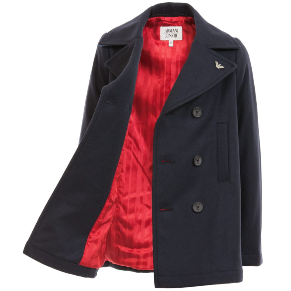 official supplier special discount of well known Boys Navy Blue Peacoat