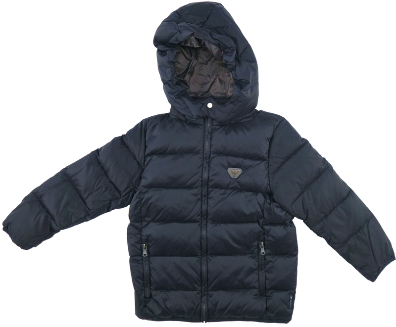 Armani Boys Navy Puffer Jacket Boys Jackets & Coats Armani Junior [Petit_New_York]