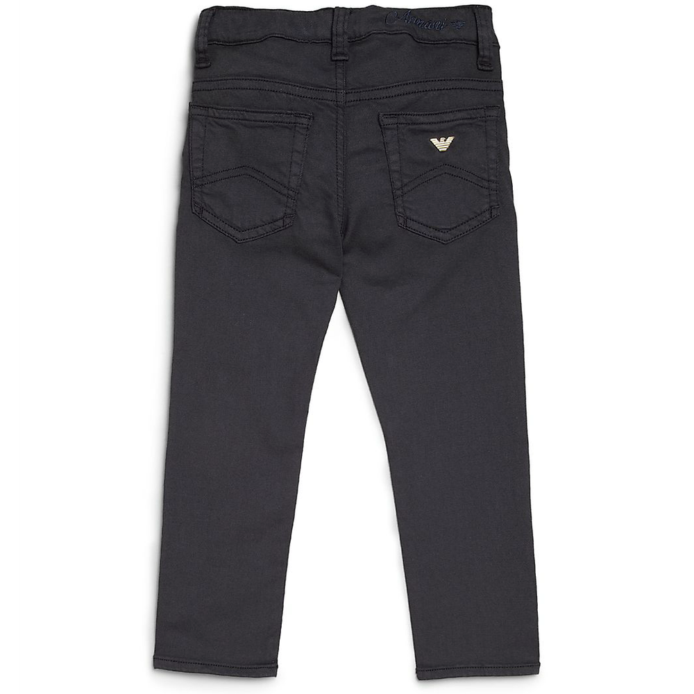39d8c1cd632344 Armani Junior Girls Navy Blue Jeggings Girls Leggings Armani Junior  [Petit_New_York]