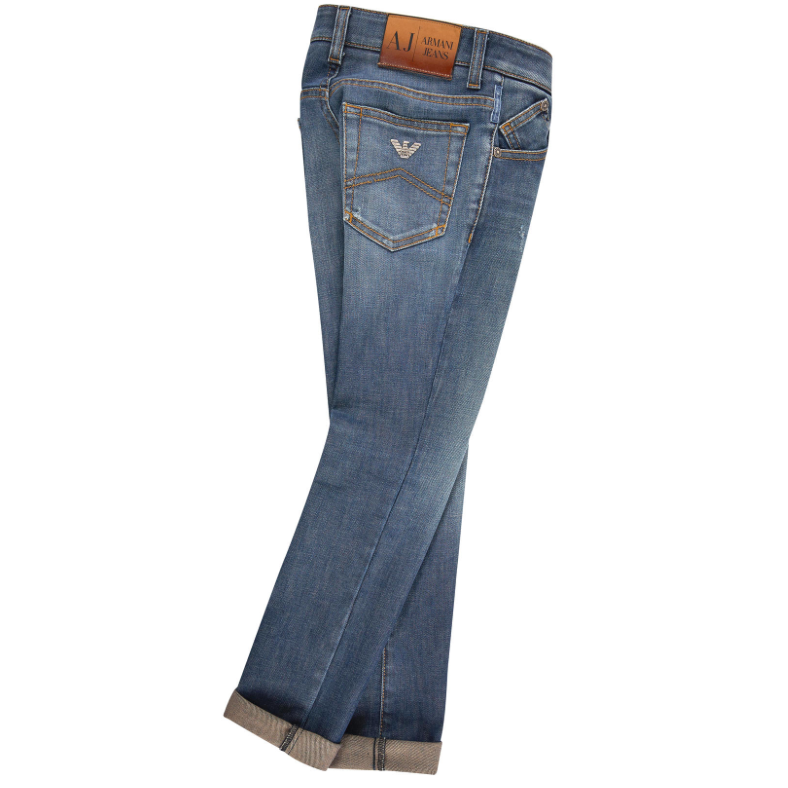 1d1d9a29ed9 Armani Junior Boys Faded Blue Jeans Boys Pants Armani Junior   Petit New York