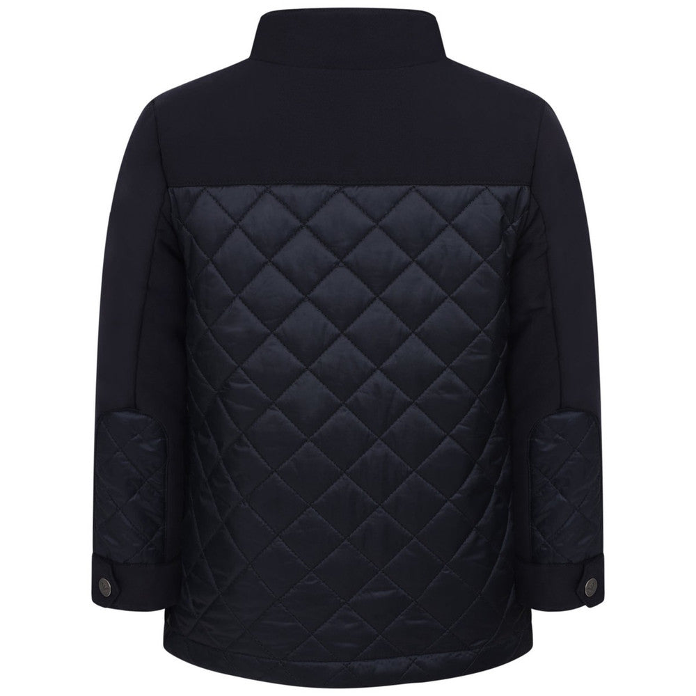 Armani Boys Navy Blue Down Quilted Jacket Boys Jackets & Coats Armani Junior [Petit_New_York]