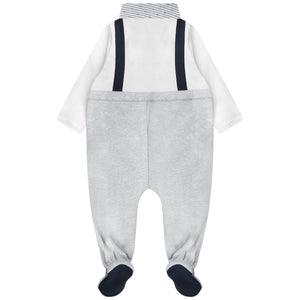 Armani Baby Boys Grey Fancy Onesie Baby Rompers & Onesies Armani Junior [Petit_New_York]