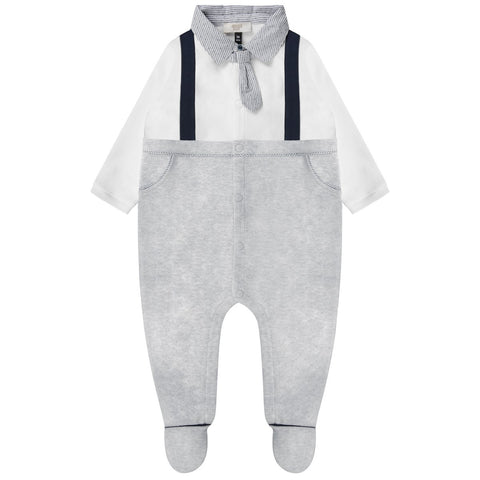 Karl Lagerfeld Baby Boys Black Onesie with Collar | New Collection