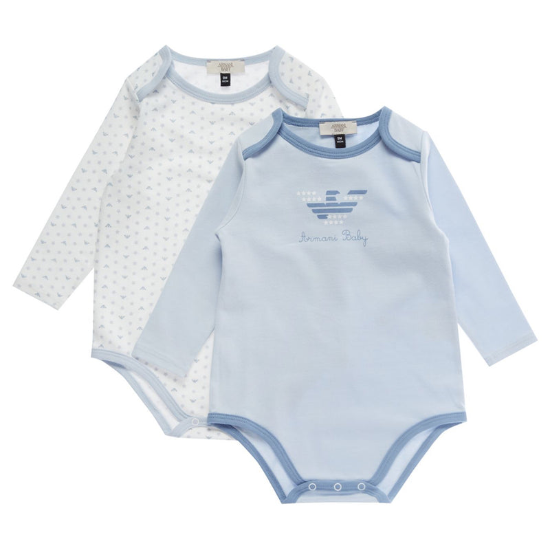 Baby Boys Two Piece Rompers (Gift Set)