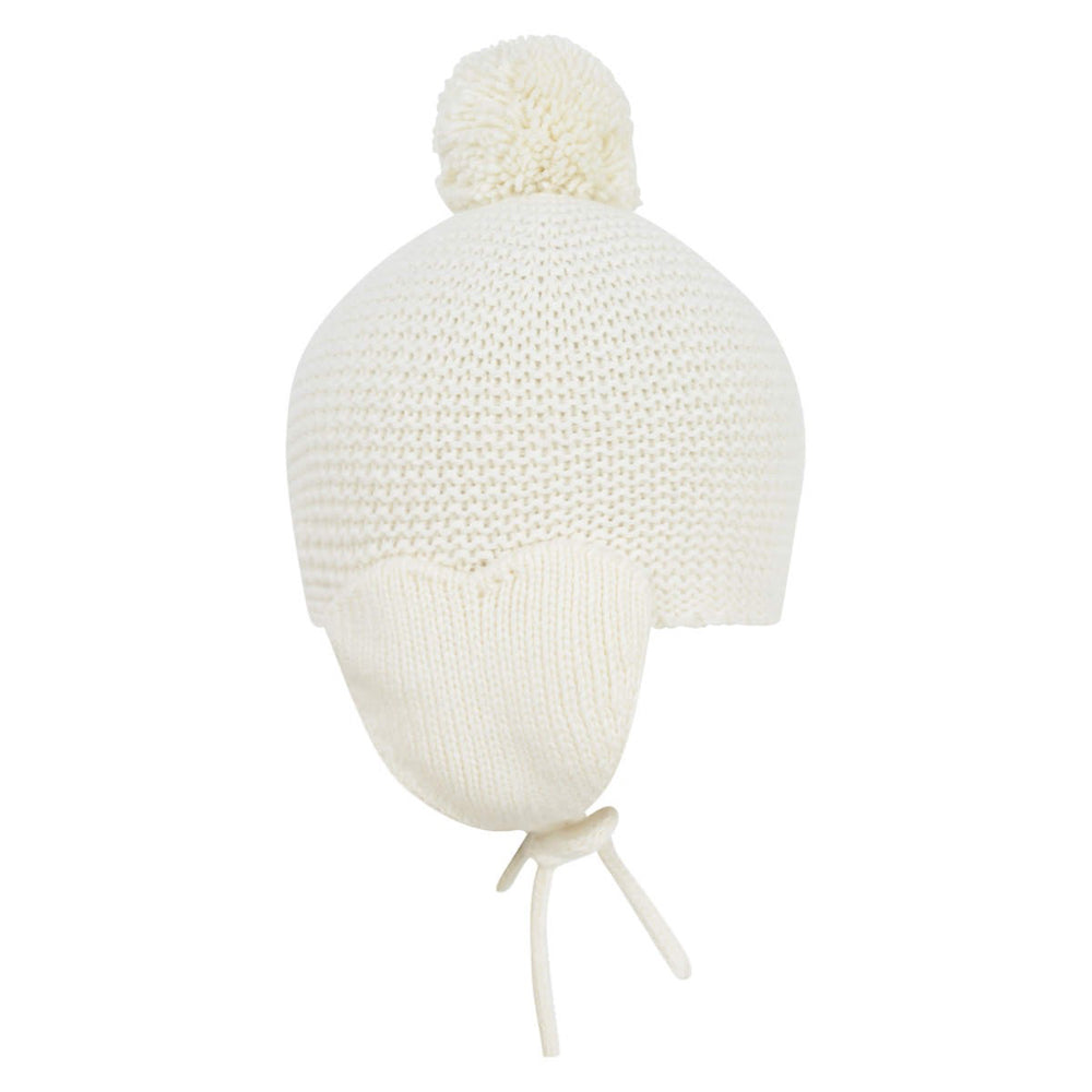 Armani Baby Girls Ivory Cashmere Hat Baby Hats, Scarves & Gloves Armani Junior [Petit_New_York]