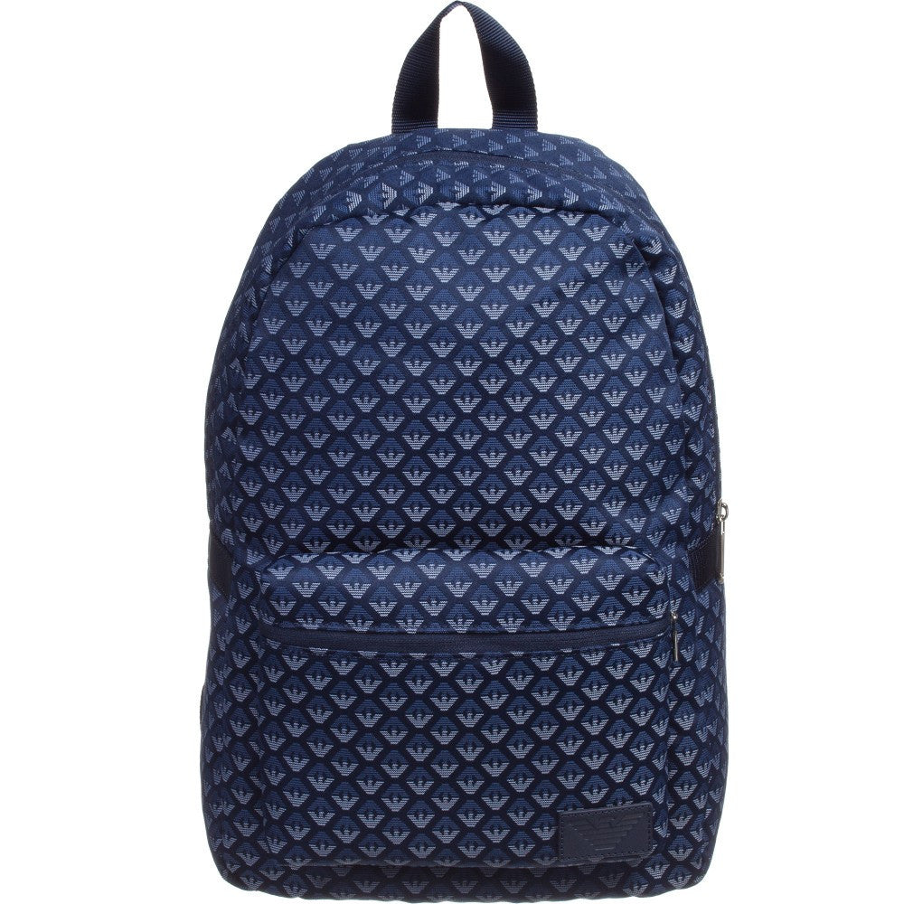add24da84118 Armani Junior Blue Logo Backpack (Unisex) Accessories Armani Junior   Petit New York