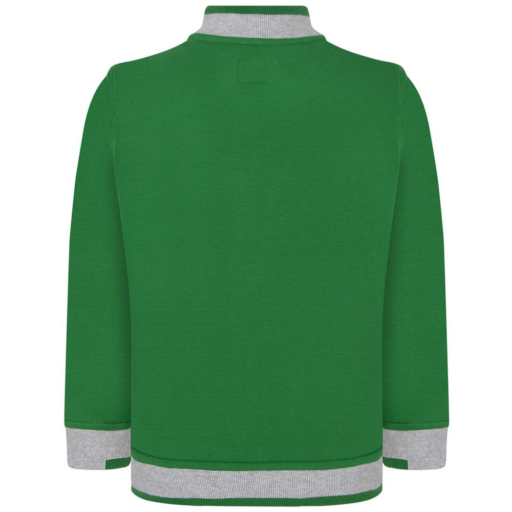 Armani Boys Green Zip Up Sweatshirt Boys Sweaters & Sweatshirts Armani Junior [Petit_New_York]