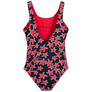 Armani Girls Starfish Print Swimsuit Girls Swimwear Armani Junior [Petit_New_York]