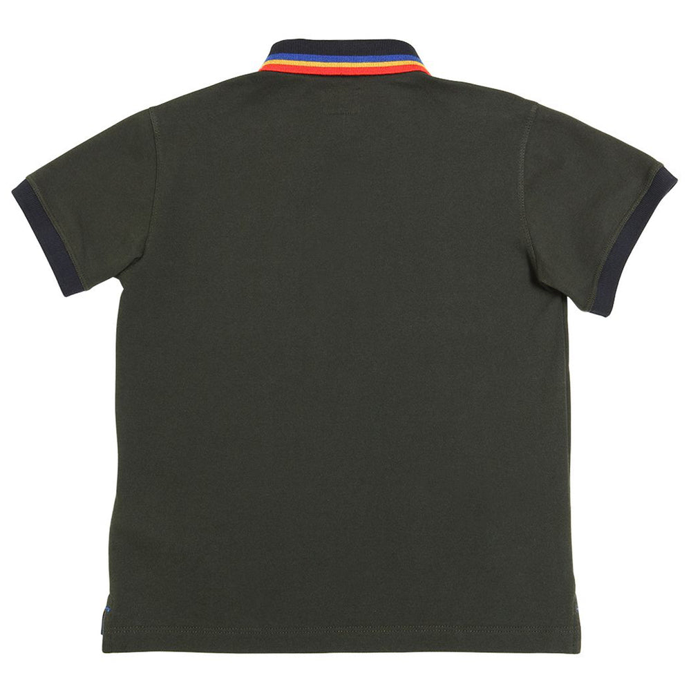 Armani Junior Boys Dark Green Logo Polo Shirt Petit New York